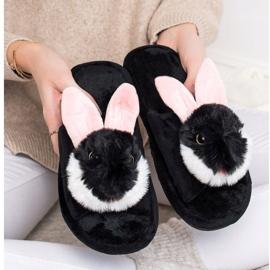 Bona Bunny pantofle černá 4