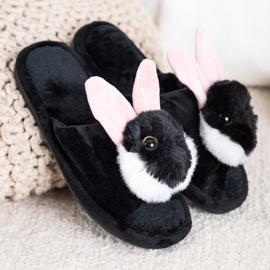 Bona Bunny pantofle černá 1