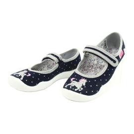 Dětská obuv Befado 114X414 válečné loďstvo šedá 3