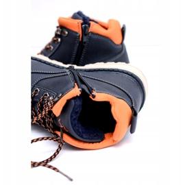 Vico Teplé dětské boty pro chlapce s fleece Billy válečné loďstvo oranžový 3