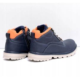 Vico Teplé dětské boty pro chlapce s fleece Billy válečné loďstvo oranžový 2