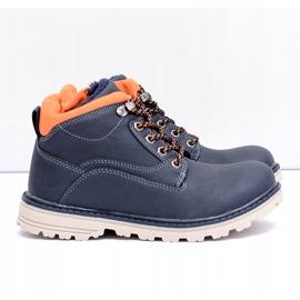 Vico Teplé dětské boty pro chlapce s fleece Billy válečné loďstvo oranžový 1