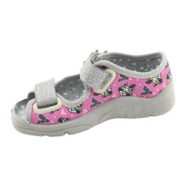 Dětská obuv Befado 969X162 růžový stříbro 2