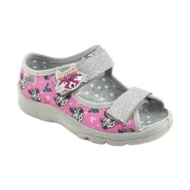 Dětská obuv Befado 969X162 růžový stříbro 1