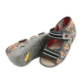 Žlutá dětská obuv Befado 350P016 šedá vícebarevný žlutý 4