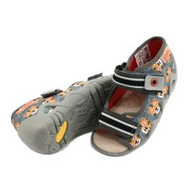 Žlutá dětská obuv Befado 350P016 oranžový šedá 4
