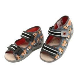 Žlutá dětská obuv Befado 350P016 oranžový šedá 3