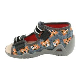 Žlutá dětská obuv Befado 350P016 oranžový šedá 2