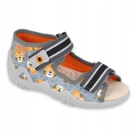 Žlutá dětská obuv Befado 350P016 oranžový šedá 1