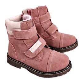 Apawwa Dětské lovecké boty zahřáté kožešinově růžovou Emmou béžový růžový 2