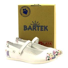 Baleríny dívky kytky Bartek bílé vícebarevný bílá 4