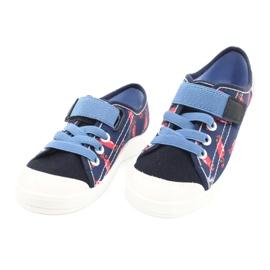 Dětská obuv Befado 251X160 červená válečné loďstvo modrý 3