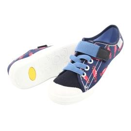 Dětská obuv Befado 251X160 červená válečné loďstvo modrý 4