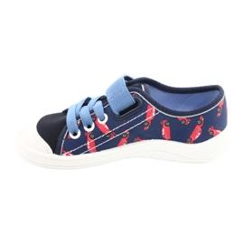 Dětská obuv Befado 251X160 červená válečné loďstvo modrý 2
