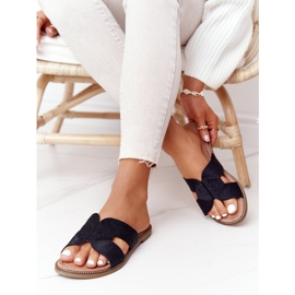 Elegantní dámské pantofle S.Barski Black černá 1