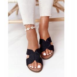 Elegantní dámské pantofle S.Barski Black černá 3