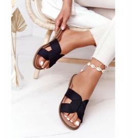 Elegantní dámské pantofle S.Barski Black černá 2