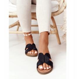 Elegantní dámské pantofle S.Barski Black černá 4