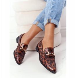 S.Barski Elegantní dámské mokasíny S. Barski Leopard hnědý 5