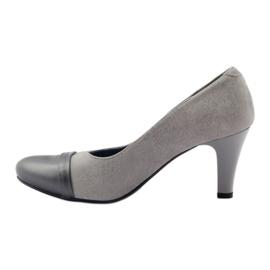 Šedé boty Espinto 532/1 šedá 2