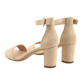 Sandály na podpatku béžové Evento 20SD98-1617 béžový 3