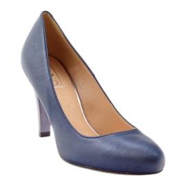 Mojo Lodičky pohodlné modré kovové podpatky vícebarevný 1
