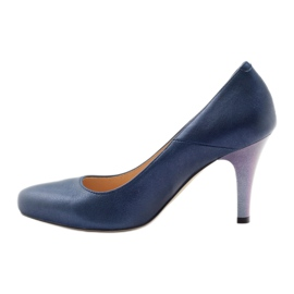 Mojo Lodičky pohodlné modré kovové podpatky vícebarevný 2