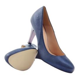 Mojo Lodičky pohodlné modré kovové podpatky vícebarevný 3