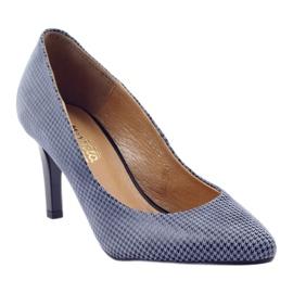 Espinto Espoo 542 dámská obuv černá modrý šedá 1