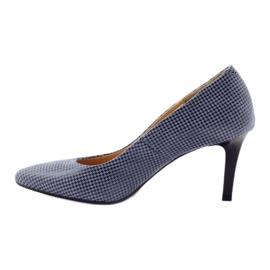 Espinto Espoo 542 dámská obuv černá modrý šedá 2