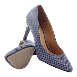 Espinto Espoo 542 dámská obuv černá modrý šedá 3