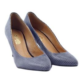 Espinto Espoo 542 dámská obuv černá modrý šedá 4