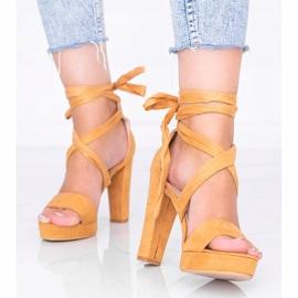 Šněrovací sandály Ginny velbloudí hnědý 1