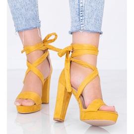 Ginnyiny hořčičné šněrovací sandály žlutý 1