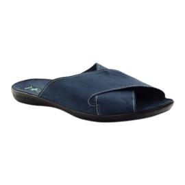Pánské pantofle Adanex 20308 tmavě modrá válečné loďstvo 1