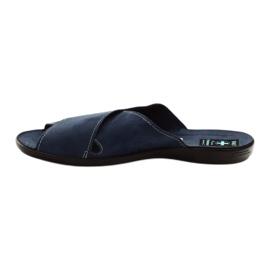 Pánské pantofle Adanex 20308 tmavě modrá válečné loďstvo 2