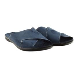 Pánské pantofle Adanex 20308 tmavě modrá válečné loďstvo 4