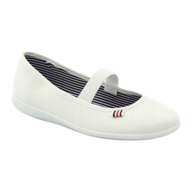 Dámské bílé tenisky Befado 493Q003 bílé bílá červená vícebarevný 1