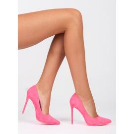 Seastar Růžové semišové vysoké podpatky růžový 1