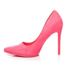 Seastar Růžové semišové vysoké podpatky růžový 3