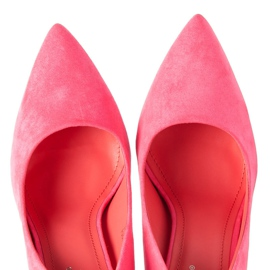 Seastar Růžové semišové vysoké podpatky růžový 5