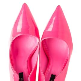 Betler Malované neonové podpatky růžový 1
